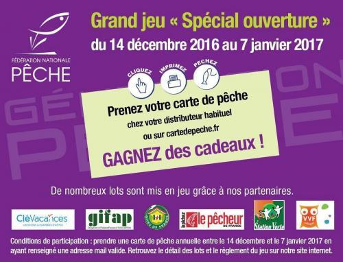 Grand Jeu concours cartedepeche.fr
