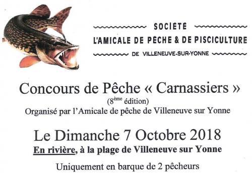 Concours de pêche des carnassiers de Villeneuve sur Yonne
