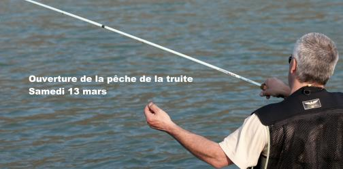 Ouverture de la pêche de la truite le samedi 13 mars